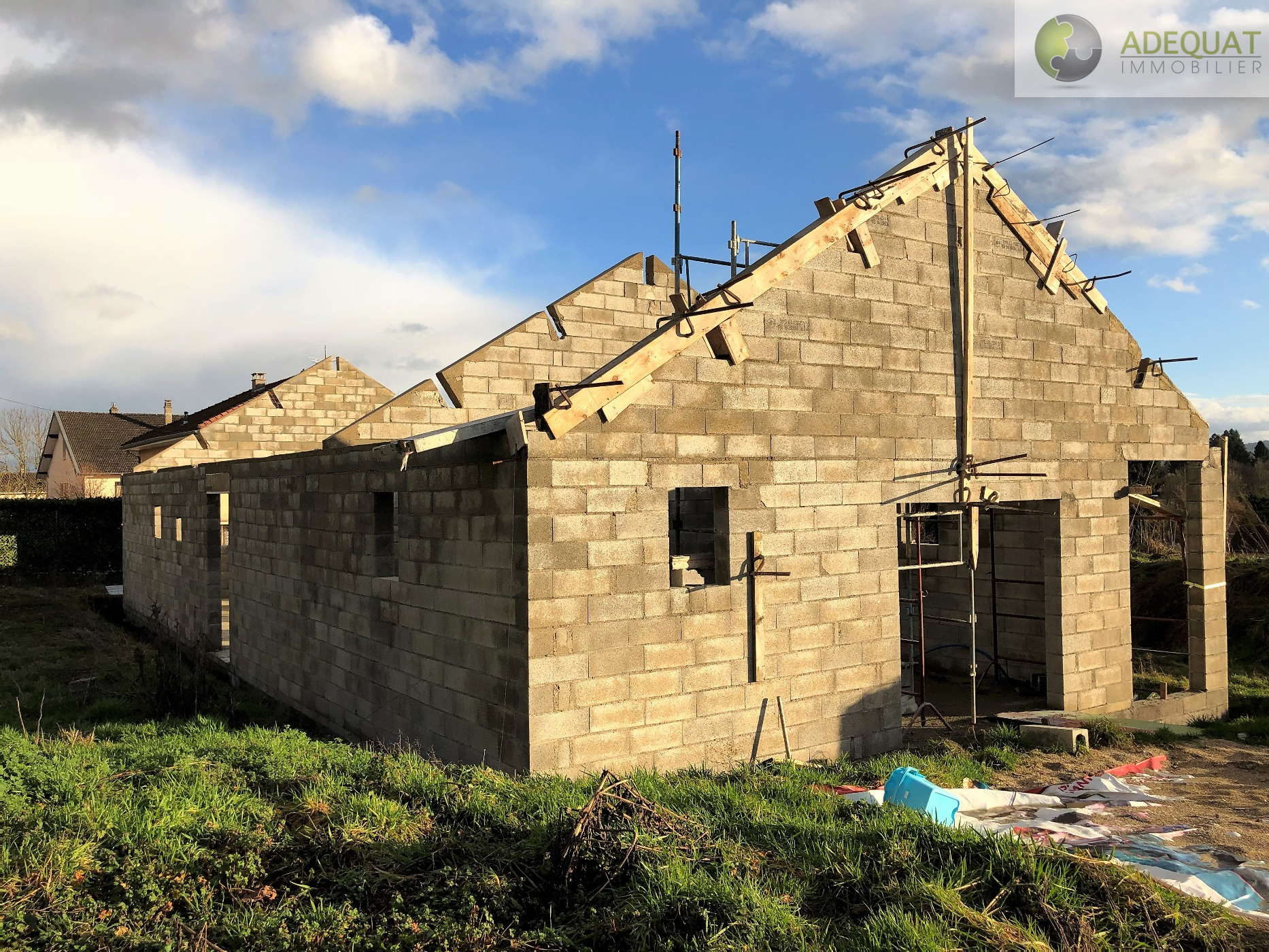Annonce vente maison la b tie montgascon 38110 113 m for Assurance maison en cours de construction